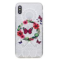 Недорогие Кейсы для iPhone 8 Plus-Кейс для Назначение Apple iPhone X iPhone X iPhone 8 iPhone 8 Plus С узором Кейс на заднюю панель Бабочка Кружева Печать Мягкий ТПУ для