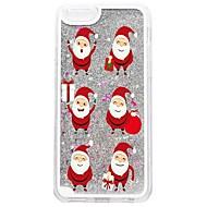Назначение iPhone 7 iPhone 7 Plus Чехлы панели Движущаяся жидкость С узором Задняя крышка Кейс для Сияние и блеск Рождество Твердый PC для