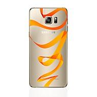 Недорогие Чехлы и кейсы для Galaxy S7 Edge-Кейс для Назначение SSamsung Galaxy S8 Plus S8 Прозрачный С узором Кейс на заднюю панель Полосы / волосы Мягкий ТПУ для S8 Plus S8 S7
