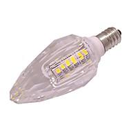お買い得  LED キャンドルライト-3W 260lm E14 LEDキャンドルライト T 40 LEDビーズ SMD 2835 温白色 クールホワイト 220-240V