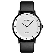 SKMEI Men's Quartz Wrist Watch Japanese Calendar / date / day Water Resistant / Water Proof Leather Band Luxury Dress Watch Elegant