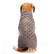 Kat Hond Jassen Truien Hondenkleding Feest Cosplay Casual/Dagelijks Houd Warm Bruiloft Halloween Kerstmis Nieuwjaar Pailletten Grijs