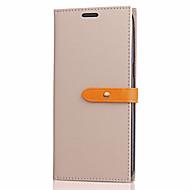 Недорогие Чехлы и кейсы для Huawei Honor-Кейс для Назначение Huawei P10 Lite Бумажник для карт Кошелек со стендом Флип Чехол Сплошной цвет Твердый Кожа PU для P10 Lite P8 Lite
