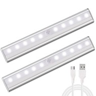 abordables Luces de Regalo-1 juego Luz de noche LED Blanco Cálido Blanco USB Sensor de infrarrojos