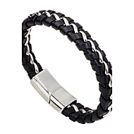 Men's Women's Leather Bracelet Fashion Simple Style Leather Alloy Round Jewelry Casual Going out Costume Jewelry
