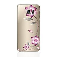 Недорогие Чехлы и кейсы для Galaxy S8-Кейс для Назначение SSamsung Galaxy S8 Plus S8 Прозрачный С узором Кейс на заднюю панель Цветы Мягкий ТПУ для S8 Plus S8 S7 edge S7 S6