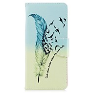 Недорогие Чехлы и кейсы для Galaxy Note-Кейс для Назначение SSamsung Galaxy Note 8 Бумажник для карт Кошелек со стендом Флип Магнитный С узором Чехол  Перья Твердый Кожа PU для