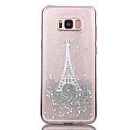 Недорогие Чехлы и кейсы для Galaxy S8-Кейс для Назначение SSamsung Galaxy S8 Plus S8 Прозрачный С узором Кейс на заднюю панель Сияние и блеск Эйфелева башня Мягкий ТПУ для S8