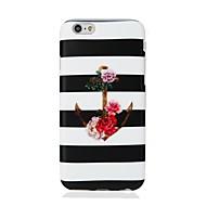 Недорогие Кейсы для iPhone 8-Назначение iPhone X iPhone 8 Чехлы панели Ультратонкий С узором Задняя крышка Кейс для Полосы / волосы анкер Мягкий Термопластик для Apple