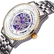 Heren Dames Sporthorloge Skeleton horloge mechanische horloges Japans Automatisch opwindmechanisme Kalender Chronograaf Waterbestendig
