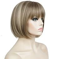 Vrouw Synthetische pruiken Kort Recht  Beige Haar met highlights/balayage Bobkapsel Celebrity Wig Cosplaypruik Natuurlijke pruik