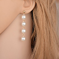 Women's Drop Earrings Imitation Pearl Fashion Simple Style Imitation Pearl Alloy Round Drop Jewelry For Party Casual
