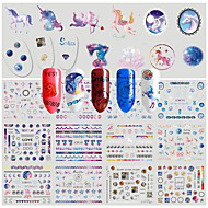 cheap Makeup & Nail Care-1 Pattern Water Transfer Decals Water Transfer Sticker Sticker DIY Supplies New Year Christmas 3-D Fashion Daily High Quality