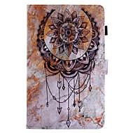 para capa de capa carteira carteira com suporte flip padrão cenário de corpo inteiro colector de sonhos couro duro para couro para