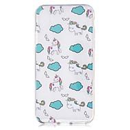 Назначение iPhone X iPhone 8 Чехлы панели IMD Прозрачный С узором Задняя крышка Кейс для единорогом Мягкий Термопластик для Apple iPhone