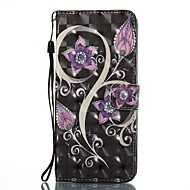 Недорогие Чехлы и кейсы для Galaxy S8-Кейс для Назначение SSamsung Galaxy S8 Plus S8 Бумажник для карт Кошелек со стендом Флип С узором Чехол Цветы Твердый Кожа PU для S8 Plus