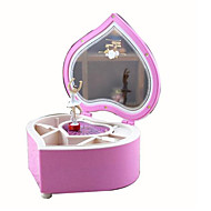 cheap Toys & Hobbies-Music Box Toys Dancing Heart-Shaped Cartoon Plastics 1 Pieces Not Specified Birthday Gift