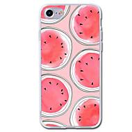 Назначение iPhone 7 iPhone 7 Plus Чехлы панели Прозрачный С узором Задняя крышка Кейс для Фрукты Мягкий Термопластик для Apple iPhone 7