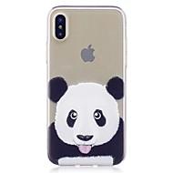 Назначение iPhone X iPhone 8 Чехлы панели Прозрачный С узором Задняя крышка Кейс для Панда Мягкий Термопластик для Apple iPhone X iPhone