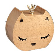 cheap Toys & Hobbies-Music Box Wind-up Toy Toys Furnishing Articles Duck Cat Wood Pieces Unisex Birthday Valentine's Day Gift
