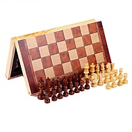 cheap Toys & Hobbies-Chess Game Chess Educational Toy Stress Relievers Rectangular Square Wooden Wood 8 to 13 Years 14 Years & Up