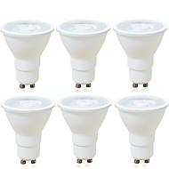 olcso LED szpotlámpák-6pcs 6 W 600 lm GU10 LED szpotlámpák MR16 1 led COB Tompítható Dekoratív Meleg fehér Hideg fehér AC 220-240V