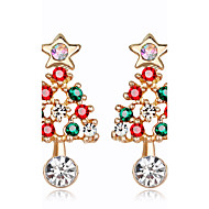 cheap Christmas Jewelry-Women's Rhinestone Stud Earrings - Fashion / Christmas Rainbow Earrings For Christmas / New Year
