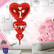 abordables Décoration de Fête-Gloire à ballon coeur forme je t'aime anniversaire anniversaire de mariage décor d'hélium