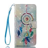 Кейс для Назначение SSamsung Galaxy A5(2017) A3(2017) Кошелек Бумажник для карт со стендом Флип С узором Чехол Ловец снов Твердый