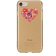 Назначение iPhone X iPhone 8 Чехлы панели Прозрачный С узором Задняя крышка Кейс для С сердцем Мягкий Термопластик для Apple iPhone X