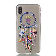 Назначение iPhone X iPhone 8 iPhone 8 Plus Чехлы панели Ультратонкий Прозрачный С узором Задняя крышка Кейс для Ловец снов Мягкий