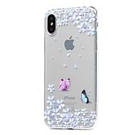 Назначение iPhone X iPhone 8 iPhone 8 Plus Чехлы панели Ультратонкий Прозрачный С узором Задняя крышка Кейс для Бабочка Мягкий