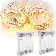 2kpl 3m 30led 3aaa 4.5v paristokäyttöinen vedenpitävä koristelu led kuparilanka valot merkkijono festivaalin hääjuhlille