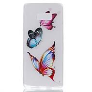 чехол для Samsung примечание 8 покрытие светится в темноте задняя крышка чехол бабочка soft tpu