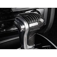 cheap Car Shift Knobs-Automotive Vehicle Shift Knob Refit(Carbon Fiber)For Audi 2013 2014 2015 2016 A4L