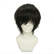 Cosplay Wigs Blue Exorcist Juzo Shima Black Short Anime Cosplay Wigs 30 CM Heat Resistant Fiber Male