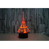 1 Set, Home Bedroom Acrylic 3D Night Light LED Lamp USB Mood Lamp, Available Battery, Colorful, 3W, Tower