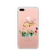 для случая крышка прозрачный узор задняя крышка случай мультфильм рождество мягкий tpu для яблока iphone x iphone 8 плюс iphone 8 iphone 7