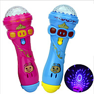お買い得  おもちゃ & ホビーアクセサリー-LED照明 マイク ノベルティ柄 家族 誕生日 きらきら 点灯 新デザイン ゴム 子供用 男の子 女の子 おもちゃ ギフト 1 pcs