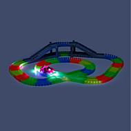 Toy Race Car & Track Sets Racewagen Ondergronds - mijngang Speeltjes LED s Nachts oplichtend DHZ Electrisch Jongens 166 Stuks