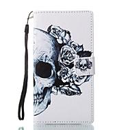 olcso Mobiltelefon tokok-Case Kompatibilitás Sony Pénztárca Kártyatartó Állvánnyal Flip Minta Mágneses Teljes védelem Koponya Kemény Műbőr Bőr mert Sony Xperia L1