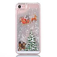 Кейс для Назначение iPhone 8 iPhone 8 Plus Движущаяся жидкость Задняя крышка Сияние и блеск Рождество Твердый PC для iPhone 8 Plus iPhone