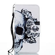 Кейс для Назначение SSamsung Galaxy Кошелек Бумажник для карт со стендом Флип С узором Магнитный Чехол Черепа Твердый Искусственная кожа
