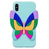 Недорогие Кейсы для iPhone 8 Plus-Назначение iPhone X iPhone 8 Чехлы панели С узором Своими руками Задняя крышка Кейс для Бабочка 3D в мультяшном стиле Мягкий Термопластик