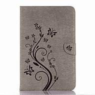 dombornyomott mintás kártyatartó tartó állvánnyal mágneses pu pénztárca bőr tok kártya táska mintás a samsung galaxis fülre a p580 10,1
