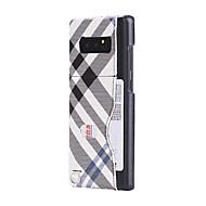 Недорогие Чехлы и кейсы для Galaxy Note 8-Кейс для Назначение SSamsung Galaxy Note 8 Бумажник для карт Кейс на заднюю панель Полосы / волосы Твердый Кожа PU для Note 8