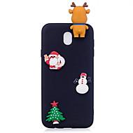 hoesje Voor Samsung Galaxy J7 (2017) J5 (2017) Mat Patroon Achterkantje 3D Cartoon Kerstmis Zacht TPU voor J7 (2016) J7 (2017) J5 (2016)