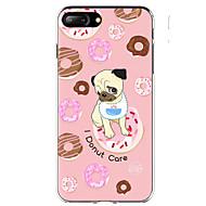 Недорогие Кейсы для iPhone 8-Кейс для Назначение Apple iPhone X iPhone 8 iPhone 8 Plus Ультратонкий С узором Кейс на заднюю панель С собакой Продукты питания Мягкий