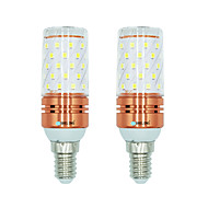 2pcs 12W E14 LED Mais-Birnen T 60 Leds SMD 2835 Warmes Weiß Weiß Dual Light Source Farbe 1000lm 3000-3500  6000-6500  3000-6500K AC