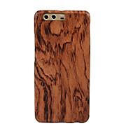 お買い得  携帯電話ケース-ケース 用途 Huawei P10 超薄型 バックカバー 木目 ハード 木製 のために P10 Huawei